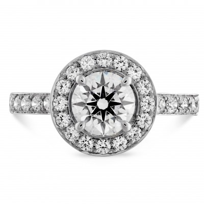 Illustrious Halo Solitaire with Diamond Band-D