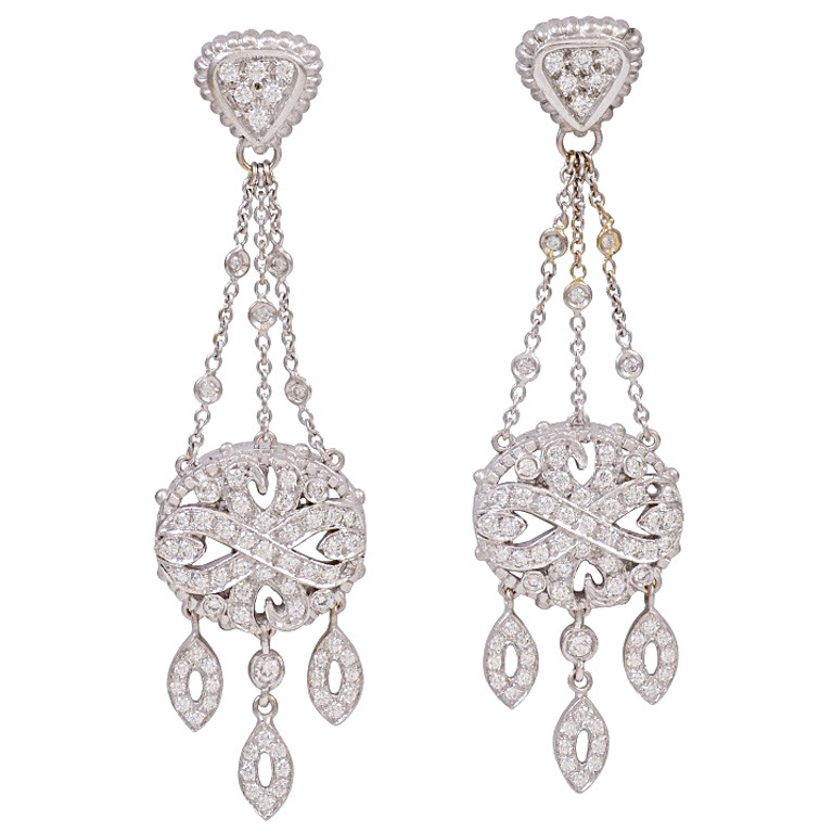 Chandelier Earrings A Combination Of Diamondetals Dangling From The Ear To At Least An In Or Two Below Earlobe Like These