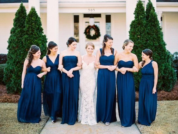 9 Navy Bridesmaid Dresses (southern weddings)