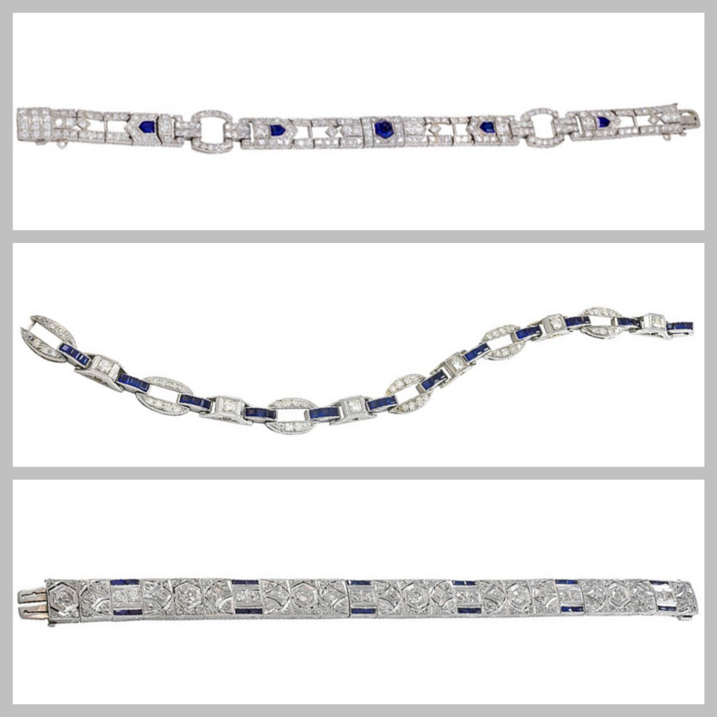 * 3 Sapphire Art Deco's