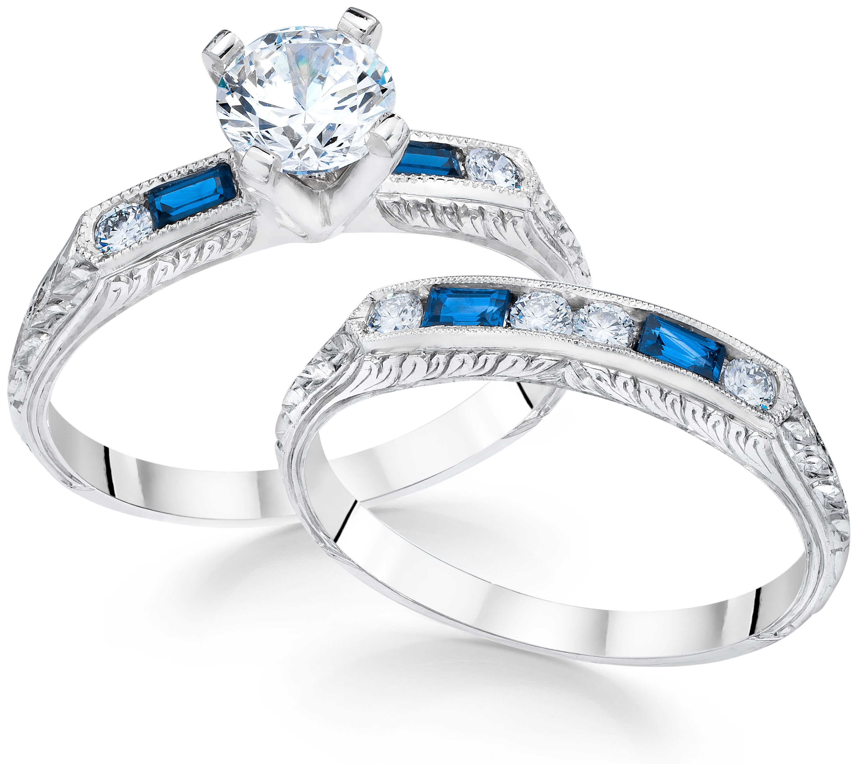 diamond wb lumo bands with lagoon sapphire products ring blue